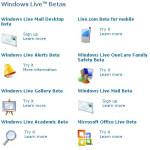 "Windows Live Ideas – ""Beta Services"""