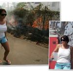 Jade Goody's fire fighting skills