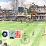 MCC Stamp on 75 years of Indian Test Cricket