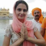 Monica Bedi at Golden Temple in Amritsar