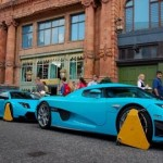 £1.2m car clamped outside Harrods, London