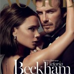 David and Victoria Beckham on front cover of Paris Vogue