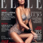 Eva Longoria only in crystals for Elle Magazine