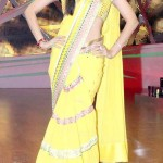 Shilpa looking gorgeous in yellow saree