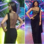 Shilpa Shetty in black Sari on Nach Baliye 6 Semi final night